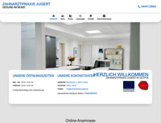 zahnarztpraxis-jugert.de screenshot