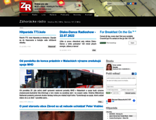zahorackeradio.sk screenshot