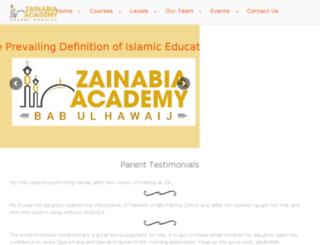 zainabia.ca screenshot