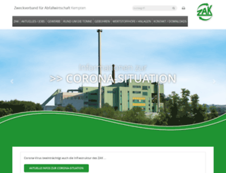 zak-kempten.de screenshot