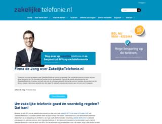 zakelijketelefonie.nl screenshot