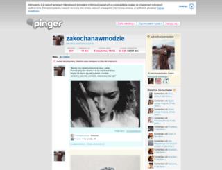zakochanawmodzie.pinger.pl screenshot