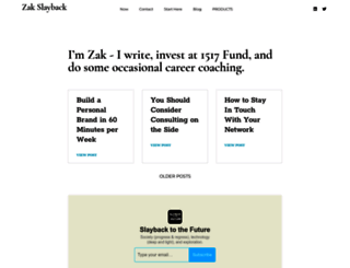 zakslayback.com screenshot
