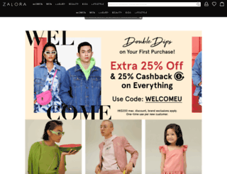 zalora.com.hk screenshot