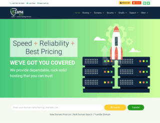zamahost.com screenshot