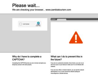 zambiatourism.com screenshot