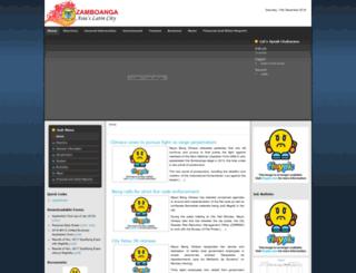 zamboanga.gov.ph screenshot