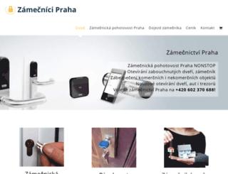 zamecnicipraha.cz screenshot