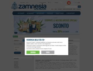 zamnesia.it screenshot