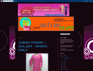 zannyboutique.blogspot.com screenshot