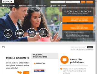 zanox.co.uk screenshot