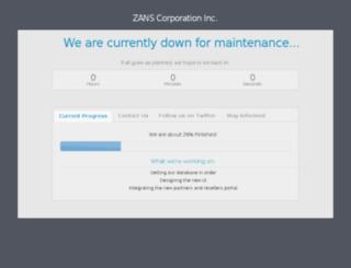 zans-corporation.com screenshot
