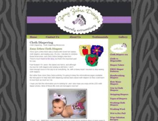 zany-zebra.com screenshot