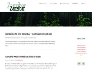 zanzibar.ca screenshot
