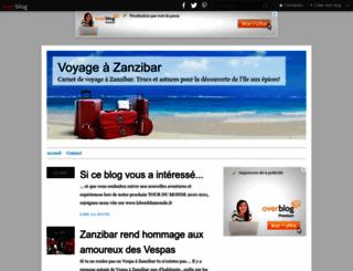 zanzibar.over-blog.org screenshot