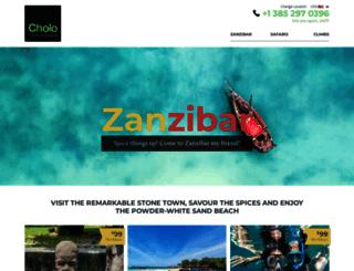 zanzibarcholotours.com screenshot