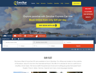 zanzibarexpresscarhire.com screenshot