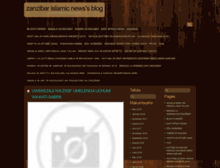 zanzibarislamicnews.wordpress.com screenshot