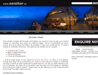 zanzibarislandhotels.com screenshot