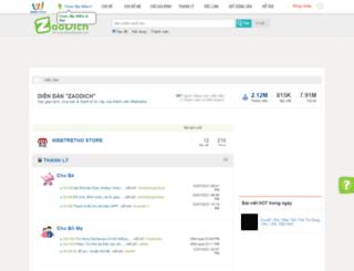 zaodich.webtretho.com screenshot