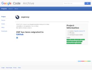 zaproxy.googlecode.com screenshot