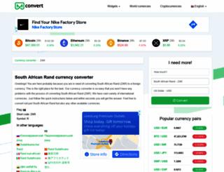 zar.mconvert.net screenshot