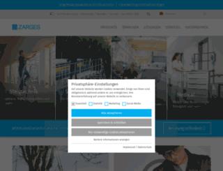 zarges.de screenshot