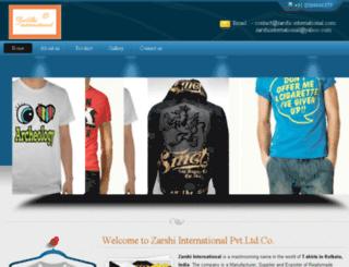 zarshi-international.com screenshot
