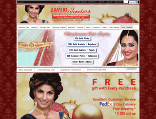 zaveribazaarjewelers.com screenshot