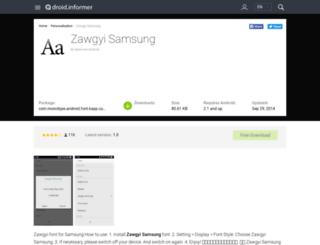 zawgyi-samsung.droidinformer.org screenshot