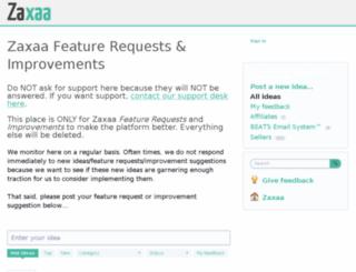 zaxaa.uservoice.com screenshot