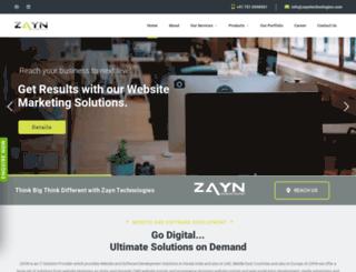 zayntechnologies.com screenshot