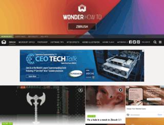 zbrush.wonderhowto.com screenshot