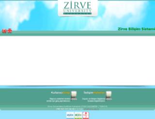 zbs.zirve.edu.tr screenshot