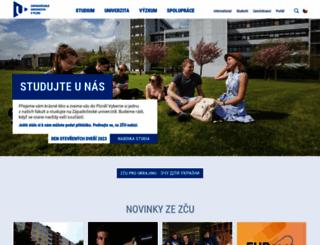 zcu.cz screenshot