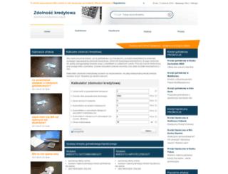 zdolnosckredytowa.org.pl screenshot