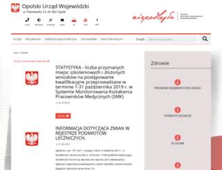 zdrowie.opolskie.pl screenshot