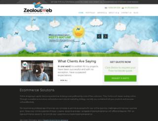 zealousweb.net screenshot