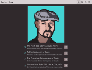 zedshaw.com screenshot