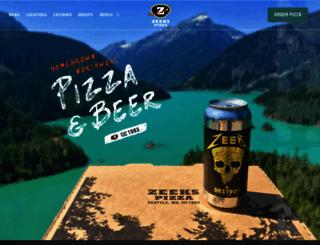 zeekspizza.com screenshot