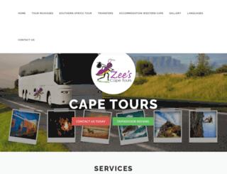 zeescapetours.co.za screenshot