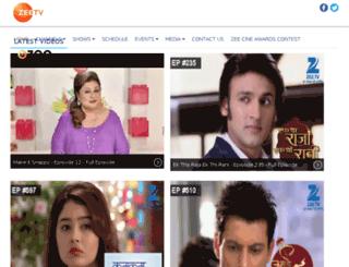 zeetelevisionasia.com screenshot