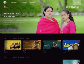zeetelugu.com screenshot