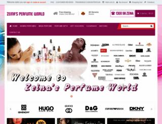 zeinaperfumeworld.com.au screenshot