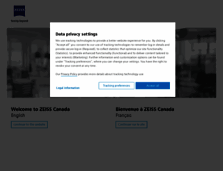 zeiss.ca screenshot
