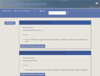 zeitarbeitsfirma-gesucht.de screenshot