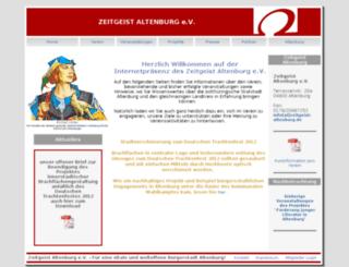zeitgeist-altenburg.de screenshot