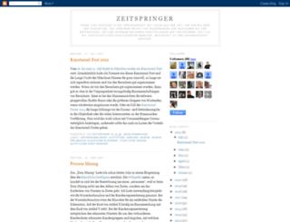zeitspringer.blogspot.dk screenshot
