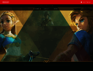 zelda.com screenshot
