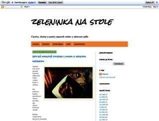 zeleninkanastole.blogspot.cz screenshot